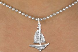 <bR>                  EXCLUSIVELY OURS!!<Br>            AN ALLAN ROBIN DESIGN!!<BR>   CLICK HERE TO SEE 120+ EXCITING<BR>      CHANGES THAT YOU CAN MAKE!<BR>     LEAD, NICKEL & CADMIUM FREE!!<BR>     W1274SN - DETAILED SAILBOAT <BR>      CRYSTAL CHARM AND NECKLACE <BR>         FROM $5.40 TO $9.85 �2012