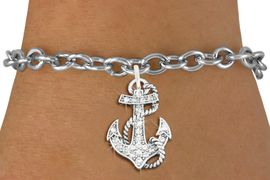 <bR>               EXCLUSIVELY OURS!!<Br>         AN ALLAN ROBIN DESIGN!! <BR>CLICK HERE TO SEE 120+ EXCITING <BR>   CHANGES THAT YOU CAN MAKE!<BR>   LEAD, NICKEL & CADMIUM FREE!! <BR>     W1278SB - DETAILED ANCHOR <BR>     CRYSTAL CHARM & BRACELET <BR>     FROM $5.40 TO $9.85 �2012