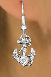<bR>                 EXCLUSIVELY OURS!!<Br>           AN ALLAN ROBIN DESIGN!!<BR>  CLICK HERE TO SEE 120+ EXCITING<BR>     CHANGES THAT YOU CAN MAKE!<BR>     LEAD, NICKEL & CADMIUM FREE!!<BR>         W1278SE - DETAILED ANCHOR <BR>      CRYSTAL CHARM EARRINGS <BR>       FROM $4.95 TO $10.00 �2012