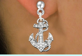 <bR>                 EXCLUSIVELY OURS!!<Br>           AN ALLAN ROBIN DESIGN!!<BR>  CLICK HERE TO SEE 120+ EXCITING<BR>     CHANGES THAT YOU CAN MAKE!<BR>     LEAD, NICKEL & CADMIUM FREE!!<BR>       W1278SE - DETAILED ANCHOR <BR>      CRYSTAL CHARM EARRINGS <BR>                   $13.38 EACH  �2012