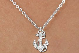<bR>                  EXCLUSIVELY OURS!!<Br>            AN ALLAN ROBIN DESIGN!!<BR>   CLICK HERE TO SEE 120+ EXCITING<BR>      CHANGES THAT YOU CAN MAKE!<BR>     LEAD, NICKEL & CADMIUM FREE!!<BR>        W1278SN - DETAILED ANCHOR <BR>CRYSTAL CHARM AND CHILDS NECKLACE <BR>         FROM $5.40 TO $9.85 �2012