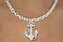 <bR>                  EXCLUSIVELY OURS!!<Br>            AN ALLAN ROBIN DESIGN!!<BR>   CLICK HERE TO SEE 120+ EXCITING<BR>      CHANGES THAT YOU CAN MAKE!<BR>     LEAD, NICKEL & CADMIUM FREE!!<BR>        W1278SN - DETAILED ANCHOR <BR>      CRYSTAL CHARM AND NECKLACE <BR>         FROM $5.40 TO $9.85 �2012