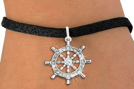 <bR>               EXCLUSIVELY OURS!!<Br>         AN ALLAN ROBIN DESIGN!! <BR>CLICK HERE TO SEE 120+ EXCITING <BR>   CHANGES THAT YOU CAN MAKE!<BR>   LEAD, NICKEL & CADMIUM FREE!! <BR> W1281SB - SHIPS STEERING WHEEL <BR>     CRYSTAL CHARM & BRACELET <BR>     FROM $5.40 TO $9.85 �2012