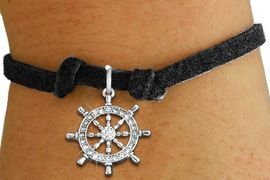 <bR>               EXCLUSIVELY OURS!!<Br>         AN ALLAN ROBIN DESIGN!! <BR>CLICK HERE TO SEE 120+ EXCITING <BR>   CHANGES THAT YOU CAN MAKE!<BR>   LEAD, NICKEL & CADMIUM FREE!! <BR> W1281SB - SHIPS STEERING WHEEL <BR>CRYSTAL CHARM & CHILDS BRACELET <BR>     FROM $5.40 TO $9.85 �2012