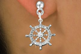 <bR>                 EXCLUSIVELY OURS!!<Br>           AN ALLAN ROBIN DESIGN!!<BR>  CLICK HERE TO SEE 120+ EXCITING<BR>     CHANGES THAT YOU CAN MAKE!<BR>     LEAD, NICKEL & CADMIUM FREE!!<BR> W1281SE - SHIPS STEERING WHEEL <BR>      CRYSTAL CHARM EARRINGS <BR>       FROM $4.95 TO $10.00 �2012
