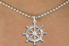<bR>                  EXCLUSIVELY OURS!!<Br>            AN ALLAN ROBIN DESIGN!!<BR>   CLICK HERE TO SEE 120+ EXCITING<BR>      CHANGES THAT YOU CAN MAKE!<BR>     LEAD, NICKEL & CADMIUM FREE!!<BR> W1281SN - SHIPS STEERING WHEEL <BR>      CRYSTAL CHARM AND NECKLACE <BR>         FROM $5.40 TO $9.85 �2012