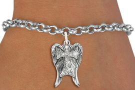 <bR>               EXCLUSIVELY OURS!!<Br>         AN ALLAN ROBIN DESIGN!! <BR>CLICK HERE TO SEE 120+ EXCITING <BR>   CHANGES THAT YOU CAN MAKE!<BR>   LEAD, NICKEL & CADMIUM FREE!! <BR>W1282SB - CROSS WITH ANGEL WINGS <BR>     CRYSTAL CHARM & BRACELET <BR>     FROM $5.40 TO $9.85 �2012