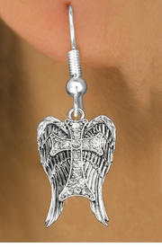 <bR>                 EXCLUSIVELY OURS!!<Br>           AN ALLAN ROBIN DESIGN!!<BR>  CLICK HERE TO SEE 120+ EXCITING<BR>     CHANGES THAT YOU CAN MAKE!<BR>     LEAD, NICKEL & CADMIUM FREE!!<BR> W1282SE - CROSS WITH ANGEL WINGS <BR>      CRYSTAL CHARM EARRINGS <BR>       FROM $4.95 TO $10.00 �2012