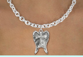 <bR>                  EXCLUSIVELY OURS!!<Br>            AN ALLAN ROBIN DESIGN!!<BR>   CLICK HERE TO SEE 120+ EXCITING<BR>      CHANGES THAT YOU CAN MAKE!<BR>     LEAD, NICKEL & CADMIUM FREE!!<BR> W1282SN - CROSS WITH ANGEL WINGS <BR>      CRYSTAL CHARM AND NECKLACE <BR>         FROM $5.40 TO $9.85 �2012