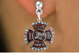 <bR>                 EXCLUSIVELY OURS!!<Br>           AN ALLAN ROBIN DESIGN!!<BR>  CLICK HERE TO SEE 120+ EXCITING<BR>     CHANGES THAT YOU CAN MAKE!<BR>     LEAD, NICKEL & CADMIUM FREE!!<BR> W1284SE - FIRE DEPARTMENT SHIELD <BR>      CRYSTAL CHARM EARRINGS <BR>       FROM $4.95 TO $10.00 �2012