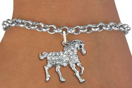<bR>               EXCLUSIVELY OURS!!<Br>         AN ALLAN ROBIN DESIGN!! <BR>CLICK HERE TO SEE 120+ EXCITING <BR>   CHANGES THAT YOU CAN MAKE!<BR>   LEAD, NICKEL & CADMIUM FREE!! <BR> W1293SB - RUNNING STALLION <BR>     CRYSTAL CHARM & BRACELET <BR>     FROM $5.40 TO $9.85 �2012