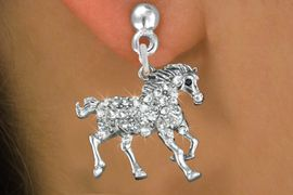 <bR>                 EXCLUSIVELY OURS!!<Br>           AN ALLAN ROBIN DESIGN!!<BR>  CLICK HERE TO SEE 120+ EXCITING<BR>     CHANGES THAT YOU CAN MAKE!<BR>     LEAD, NICKEL & CADMIUM FREE!!<BR>         W1293SE - RUNNING STALLION <BR>      CRYSTAL CHARM EARRINGS <BR>       FROM $4.95 TO $10.00 �2012