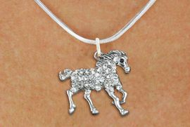 <bR>                  EXCLUSIVELY OURS!!<Br>            AN ALLAN ROBIN DESIGN!!<BR>   CLICK HERE TO SEE 120+ EXCITING<BR>      CHANGES THAT YOU CAN MAKE!<BR>     LEAD, NICKEL & CADMIUM FREE!!<BR>        W1293SN - RUNNING STALLION <BR>      CRYSTAL CHARM AND NECKLACE <BR>         FROM $5.40 TO $9.85 �2012