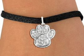 <bR>               EXCLUSIVELY OURS!!<Br>         AN ALLAN ROBIN DESIGN!! <BR>CLICK HERE TO SEE 120+ EXCITING <BR>   CHANGES THAT YOU CAN MAKE!<BR>   LEAD, NICKEL & CADMIUM FREE!! <BR> W1306B3 - BEAUTIFUL PAW PRINT <BR>     CRYSTAL CHARM & BRACELET <BR>     FROM $5.40 TO $9.85 �2012