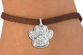 <bR>               EXCLUSIVELY OURS!!<Br>         AN ALLAN ROBIN DESIGN!! <BR>CLICK HERE TO SEE 120+ EXCITING <BR>   CHANGES THAT YOU CAN MAKE!<BR>   LEAD, NICKEL & CADMIUM FREE!! <BR> W1306B4 - BEAUTIFUL PAW PRINT <BR>     CRYSTAL CHARM & BRACELET <BR>     FROM $5.40 TO $9.85 �2012