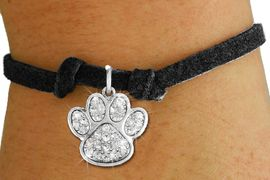<bR>               EXCLUSIVELY OURS!!<Br>         AN ALLAN ROBIN DESIGN!! <BR>CLICK HERE TO SEE 120+ EXCITING <BR>   CHANGES THAT YOU CAN MAKE!<BR>   LEAD, NICKEL & CADMIUM FREE!! <BR> W1306SB - BEAUTIFUL PAW PRINT <BR>CRYSTAL CHARM & CHILDS BRACELET <BR>     FROM $5.40 TO $9.85 �2012