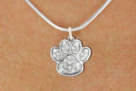<bR>                  EXCLUSIVELY OURS!!<Br>            AN ALLAN ROBIN DESIGN!!<BR>   CLICK HERE TO SEE 120+ EXCITING<BR>      CHANGES THAT YOU CAN MAKE!<BR>     LEAD, NICKEL & CADMIUM FREE!!<BR> W1306SN - BEAUTIFUL PAW PRINT <BR>      CRYSTAL CHARM AND NECKLACE <BR>         FROM $5.40 TO $9.85 �2012