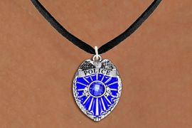 <bR>                  EXCLUSIVELY OURS!!<Br>            AN ALLAN ROBIN DESIGN!!<BR>   CLICK HERE TO SEE 120+ EXCITING<BR>      CHANGES THAT YOU CAN MAKE!<BR>     LEAD, NICKEL & CADMIUM FREE!!<BR>W1329SN - DETAILED POLICE BADGE <BR>WITH BLUE CRYSTAL CHARM NECKLACE <BR>         FROM $5.40 TO $9.85 �2012