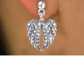 <bR>                 EXCLUSIVELY OURS!!<Br>           AN ALLAN ROBIN DESIGN!!<BR>  CLICK HERE TO SEE 120+ EXCITING<BR>     CHANGES THAT YOU CAN MAKE!<BR>     LEAD, NICKEL & CADMIUM FREE!!<BR>W1342SE - AUSTRIAN CRYSTAL ANGEL <BR>           WINGS CHARM EARRINGS <BR>       FROM $4.95 TO $10.00 �2012