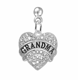 "<bR>                 EXCLUSIVELY OURS!!<Br>           AN ALLAN ROBIN DESIGN!!<BR>  CLICK HERE TO SEE 120+ EXCITING<BR>     CHANGES THAT YOU CAN MAKE!<BR>     LEAD, NICKEL & CADMIUM FREE!!<BR>W1343SE2 - AUSTRIAN CRYSTAL ""GRANDMA"" <BR>           HEART CHARM EARRINGS <BR>       FROM $4.95 TO $10.00 �2012"