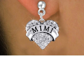 "<bR>                 EXCLUSIVELY OURS!!<Br>           AN ALLAN ROBIN DESIGN!!<BR>  CLICK HERE TO SEE 120+ EXCITING<BR>     CHANGES THAT YOU CAN MAKE!<BR>     LEAD, NICKEL & CADMIUM FREE!!<BR>W1344SE - AUSTRIAN CRYSTAL ""MIMI"" <BR>           HEART CHARM EARRINGS <BR>       FROM $4.95 TO $10.00 �2012"