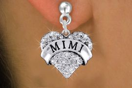 """<bR>                 EXCLUSIVELY OURS!!<Br>           AN ALLAN ROBIN DESIGN!!<BR>  CLICK HERE TO SEE 120+ EXCITING<BR>     CHANGES THAT YOU CAN MAKE!<BR>     LEAD, NICKEL & CADMIUM FREE!!<BR>W1344SE - AUSTRIAN CRYSTAL """"MIMI"""" <BR>           HEART CHARM EARRINGS <BR>       FROM $4.95 TO $10.00 �2012"""