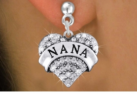 "<bR>                 EXCLUSIVELY OURS!!<Br>           AN ALLAN ROBIN DESIGN!!<BR>  CLICK HERE TO SEE 120+ EXCITING<BR>     CHANGES THAT YOU CAN MAKE!<BR>     LEAD, NICKEL & CADMIUM FREE!!<BR>W1345SE - AUSTRIAN CRYSTAL ""NANA"" <BR>           HEART CHARM EARRINGS <BR>       FROM $4.95 TO $10.00 �2012"