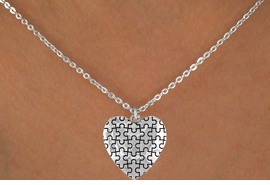 <bR>               EXCLUSIVELY OURS!!<Br>         AN ALLAN ROBIN DESIGN!!<BR>CLICK HERE TO SEE 120+ EXCITING<BR>   CHANGES THAT YOU CAN MAKE!<BR>              LEAD & NICKEL FREE!!<BR>  HIGH POLISHED - MIRROR FINISH<BR>   W665SN -  AUTISM AWARENESS<Br>  PUZZLE PIECE HEART & NECKLACE<bR>        &#169;2010 FROM $4.50 TO $8.00