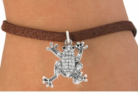 <bR>                      EXCLUSIVELY OURS!!<Br>                AN ALLAN ROBIN DESIGN!!<BR>       CLICK HERE TO SEE 120+ EXCITING<BR>          CHANGES THAT YOU CAN MAKE!<BR>                     LEAD & NICKEL FREE!!<BR> W1075SB - PAVE CRYSTAL FROG CHARM <Br>& BRACELET FROM $5.40 TO $9.85 �2011