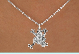 <bR>                      EXCLUSIVELY OURS!!<Br>                AN ALLAN ROBIN DESIGN!!<BR>       CLICK HERE TO SEE 120+ EXCITING<BR>          CHANGES THAT YOU CAN MAKE!<BR>                     LEAD & NICKEL FREE!!<BR>W1075SN - PAVE CRYSTAL FROG CHARM &<BR>  NECKLACE FROM $5.40 TO $9.85 �2011