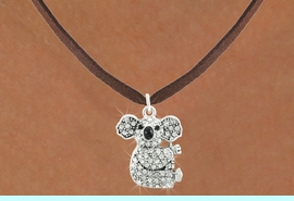 <bR>                      EXCLUSIVELY OURS!!<Br>                AN ALLAN ROBIN DESIGN!!<BR>       CLICK HERE TO SEE 120+ EXCITING<BR>          CHANGES THAT YOU CAN MAKE!<BR>                     LEAD & NICKEL FREE!!<BR>W1076SN - PAVE CRYSTAL KOALA CHARM &<BR>   NECKLACE FROM $5.40 TO $9.85 �2011