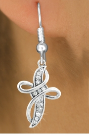 <bR>                   EXCLUSIVELY OURS!!<Br>             AN ALLAN ROBIN DESIGN!!<BR>    CLICK HERE TO SEE 120+ EXCITING<BR>       CHANGES THAT YOU CAN MAKE!<BR>                  LEAD & NICKEL FREE!!<BR>    W1077SE - CRYSTAL CROSS CHARM<BR> EARRINGS FROM $4.95 TO $10.00 �2011