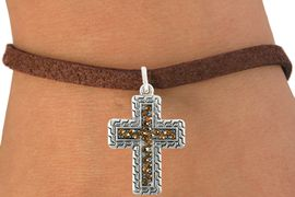 <bR>                      EXCLUSIVELY OURS!!<Br>                AN ALLAN ROBIN DESIGN!!<BR>       CLICK HERE TO SEE 120+ EXCITING<BR>          CHANGES THAT YOU CAN MAKE!<BR>                     LEAD & NICKEL FREE!!<BR>W1078SB - TOPAZ CRYSTAL CROSS CHARM <Br>  & BRACELET FROM $5.40 TO $9.85 �2011