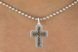 <bR>                      EXCLUSIVELY OURS!!<Br>                AN ALLAN ROBIN DESIGN!!<BR>       CLICK HERE TO SEE 120+ EXCITING<BR>          CHANGES THAT YOU CAN MAKE!<BR>                     LEAD & NICKEL FREE!!<BR>W1078SN - TOPAZ CRYSTAL CROSS CHARM<BR> & NECKLACE FROM $5.40 TO $9.85 �2011