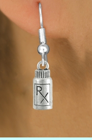 <bR>                   EXCLUSIVELY OURS!!<Br>             AN ALLAN ROBIN DESIGN!!<BR>    CLICK HERE TO SEE 120+ EXCITING<BR>       CHANGES THAT YOU CAN MAKE!<BR>                  LEAD & NICKEL FREE!!<BR>          W1079SE - RX BOTTLE CHARM<BR> EARRINGS FROM $4.50 TO $8.35 �2012