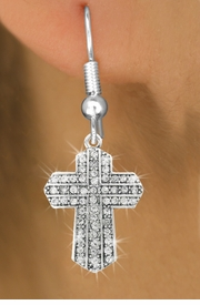 <bR>                   EXCLUSIVELY OURS!!<Br>             AN ALLAN ROBIN DESIGN!!<BR>    CLICK HERE TO SEE 120+ EXCITING<BR>       CHANGES THAT YOU CAN MAKE!<BR>                  LEAD & NICKEL FREE!!<BR>W1085SE - PAVE CRYSTAL CROSS CHARM<BR> EARRINGS FROM $4.95 TO $10.00 �2011