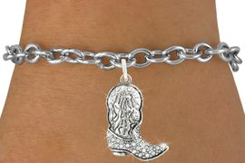 <bR>                   EXCLUSIVELY OURS!!<Br>             AN ALLAN ROBIN DESIGN!!<BR>    CLICK HERE TO SEE 120+ EXCITING<BR>       CHANGES THAT YOU CAN MAKE!<BR>                  LEAD & NICKEL FREE!!<BR>  W1087SB - COWBOY BOOT CHARM &<Br>BRACELET FROM $5.15 TO $9.00 �2011