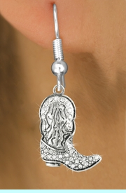 <bR>                   EXCLUSIVELY OURS!!<Br>             AN ALLAN ROBIN DESIGN!!<BR>    CLICK HERE TO SEE 120+ EXCITING<BR>       CHANGES THAT YOU CAN MAKE!<BR>                  LEAD & NICKEL FREE!!<BR>     W1087SE - COWBOY BOOT CHARM<BR> EARRINGS FROM $4.95 TO $10.00 �2011