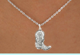 <bR>                      EXCLUSIVELY OURS!!<Br>                AN ALLAN ROBIN DESIGN!!<BR>       CLICK HERE TO SEE 120+ EXCITING<BR>          CHANGES THAT YOU CAN MAKE!<BR>                     LEAD & NICKEL FREE!!<BR>        W1087SN - COWBOY BOOT CHARM<BR> & NECKLACE FROM $5.55 TO $9.00 �2011
