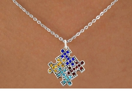 <bR>                      EXCLUSIVELY OURS!!<Br>                AN ALLAN ROBIN DESIGN!!<BR>       CLICK HERE TO SEE 120+ EXCITING<BR>          CHANGES THAT YOU CAN MAKE!<BR>                     LEAD & NICKEL FREE!!<BR>W1127SN - CRYSTAL AUTISM PUZZLE CHARM<BR> & NECKLACE FROM $5.40 TO $9.85 �2011