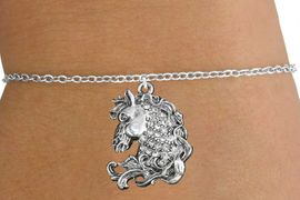 <bR>                   EXCLUSIVELY OURS!!<Br>             AN ALLAN ROBIN DESIGN!!<BR>    CLICK HERE TO SEE 120+ EXCITING<BR>       CHANGES THAT YOU CAN MAKE!<BR>                  LEAD & NICKEL FREE!!<BR>W1140SB - CRYSTAL HORSE CHARM &<Br>CHILDRENS BRACELET FROM $5.40 TO $9.85 �2012