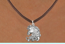 <bR>                      EXCLUSIVELY OURS!!<Br>                AN ALLAN ROBIN DESIGN!!<BR>       CLICK HERE TO SEE 120+ EXCITING<BR>          CHANGES THAT YOU CAN MAKE!<BR>                     LEAD & NICKEL FREE!!<BR>W1140SN - CRYSTAL HORSE CHARM<BR> & NECKLACE FROM $5.40 TO $9.85 �2012