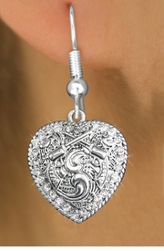 <bR>                   EXCLUSIVELY OURS!!<Br>             AN ALLAN ROBIN DESIGN!!<BR>    CLICK HERE TO SEE 120+ EXCITING<BR>       CHANGES THAT YOU CAN MAKE!<BR>                  LEAD & NICKEL FREE!!<BR>W1142SE - CRYSTAL  CROSSED PISTOLS HEART CHARM<BR> EARRINGS FROM $4.95 TO $10.00 �2012
