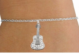 <bR>                   EXCLUSIVELY OURS!!<Br>             AN ALLAN ROBIN DESIGN!!<BR>    CLICK HERE TO SEE 120+ EXCITING<BR>       CHANGES THAT YOU CAN MAKE!<BR>                  LEAD & NICKEL FREE!!<BR>W1169SB - CRYSTAL ACOUSTIC GUITAR CHARM <Br>& CHILDRENS BRACELET FROM $5.40 TO $9.85 �2012