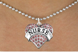 "<bR>                 EXCLUSIVELY OURS!!<Br>           AN ALLAN ROBIN DESIGN!!<BR>  CLICK HERE TO SEE 120+ EXCITING<BR>     CHANGES THAT YOU CAN MAKE!<BR>                LEAD & NICKEL FREE!! <BR>  W1243SN - ROSE CRYSTAL ""NURSE"" <BR>          HEART CHARM & NECKLACE <BR>         FROM $5.40 TO $9.85 �2012"