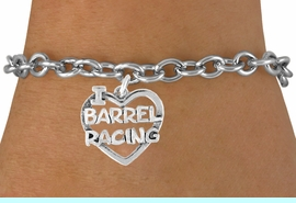 <bR>               EXCLUSIVELY OURS!!<Br>         AN ALLAN ROBIN DESIGN!!<BR>CLICK HERE TO SEE 120+ EXCITING<BR>   CHANGES THAT YOU CAN MAKE!<BR>              LEAD & NICKEL FREE!!<BR> W605SB - I LOVE BARREL RACING<Br>     & BRACELET AS LOW AS $4.50