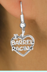 <bR>               EXCLUSIVELY OURS!!<Br>         AN ALLAN ROBIN DESIGN!!<BR>CLICK HERE TO SEE 120+ EXCITING<BR>   CHANGES THAT YOU CAN MAKE!<BR>              LEAD & NICKEL FREE!!<BR> W605SE - I LOVE BARREL RACING<Br>     & EARRINGS FROM $4.50 TO $8.35