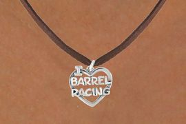 <bR>               EXCLUSIVELY OURS!!<Br>         AN ALLAN ROBIN DESIGN!!<BR>CLICK HERE TO SEE 120+ EXCITING<BR>   CHANGES THAT YOU CAN MAKE!<BR>              LEAD & NICKEL FREE!!<BR> W605SN - I LOVE BARREL RACING<BR>     & NECKLACE AS LOW AS $4.50