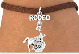<bR>                EXCLUSIVELY OURS!!<Br>          AN ALLAN ROBIN DESIGN!!<BR> CLICK HERE TO SEE 120+ EXCITING<BR>    CHANGES THAT YOU CAN MAKE!<BR>               LEAD & NICKEL FREE!!<BR>W609SB - RODEO BUCKIN BRONCO<Br>      & BRACELET AS LOW AS $4.50
