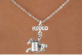 <bR>               EXCLUSIVELY OURS!!<Br>         AN ALLAN ROBIN DESIGN!!<BR>CLICK HERE TO SEE 120+ EXCITING<BR>   CHANGES THAT YOU CAN MAKE!<BR>              LEAD & NICKEL FREE!!<BR>  W610SN - RODEO BARREL RACER<BR>     & NECKLACE AS LOW AS $4.50